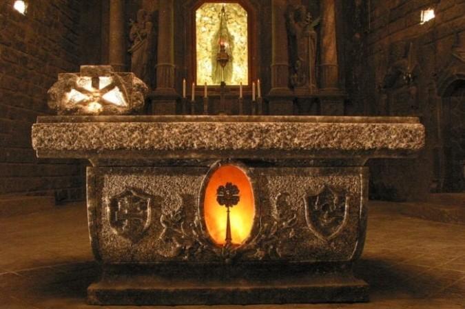Podziemna Wieliczka   - Trzyczęściowy ołtarz