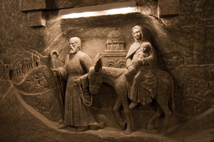 rzeźby zsoli - Kopalnia Soli wWieliczce